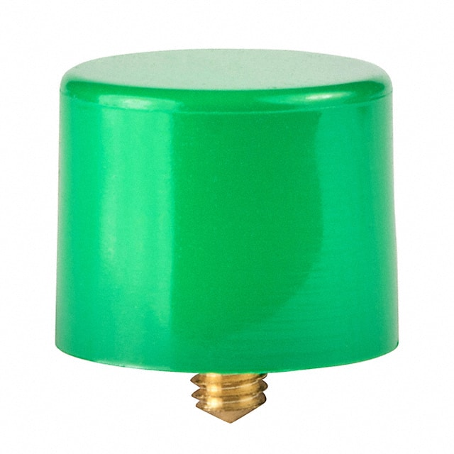 CAP PUSHBUTTON ROUND GREEN