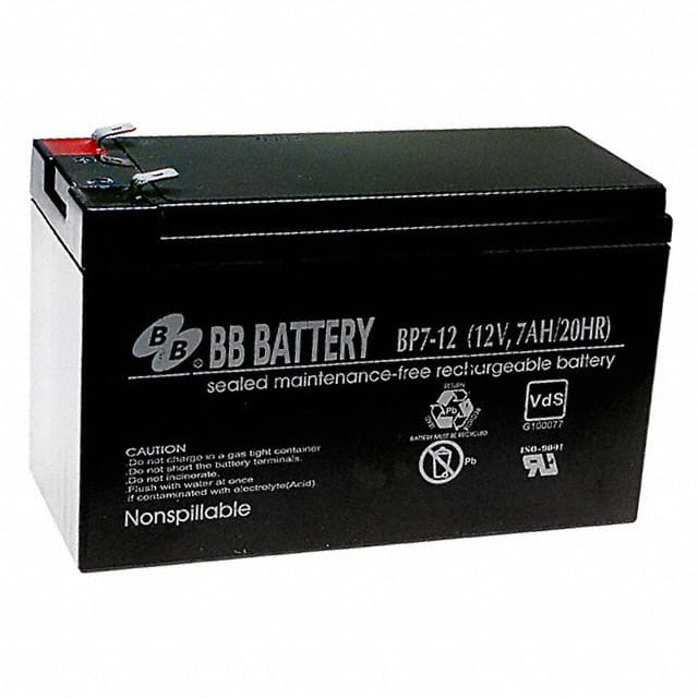 bp7 12 t2 b b battery battery products digikey. Black Bedroom Furniture Sets. Home Design Ideas