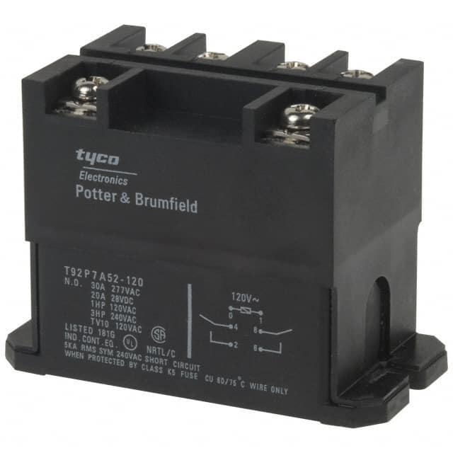 t92p7a52 120 te connectivity potter brumfield relays relays t92p7a52 120