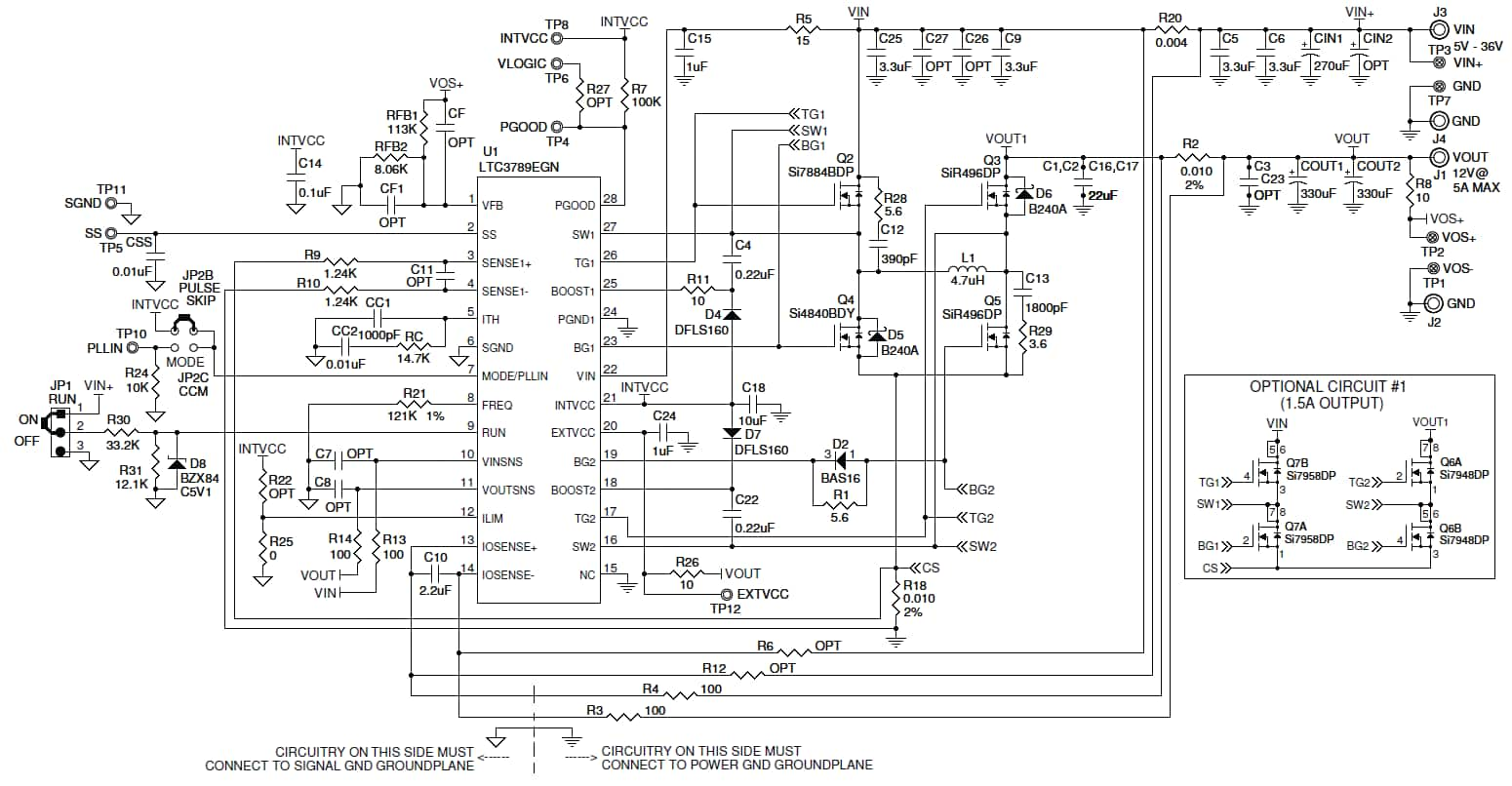 Dc1523a 12v 5a 5 36v In Buck Boost Digikey Electronics Dc To Converter Circuit Also Design Media